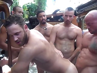 big cock (gay), bareback (gay), gangbang (gay), hunk (gay), interracial (gay), muscle (gay)