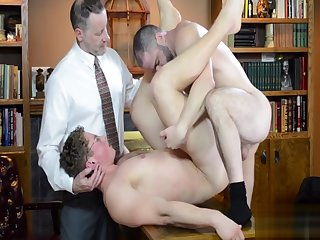 gay, bareback, threesome, , ,