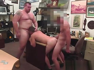 blowjob, bareback, gay, pov, threesome,