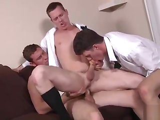 gay, blowjob, threesome, , ,