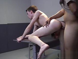 bdsm, bareback, gay, uniform, ,