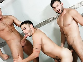 gay hunk, gay, gay sex, gay threesome, ,