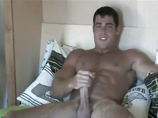 masturbation, big cock, hunk, gay, ,