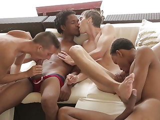 bareback (gay), twink (gay), big cock (gay), blowjob (gay), interracial (gay),