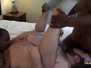 chubby, hot, interracial, threesome, ,