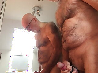hairy, hot, grandpa, masturbating, richard, the