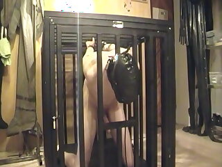 slaveboy, caged, , , ,
