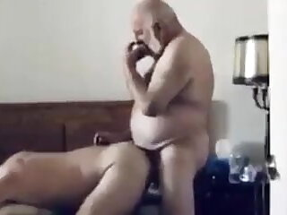 bearded, white, old, man, big, cock