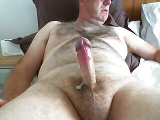 man, old, daddy, cum, on, cam