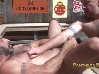 big cock (gay), bear (gay), blowjob (gay), fat (gay), muscle (gay), outdoor (gay)