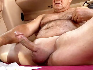 daddy, hung, bear, massive, cum, shot